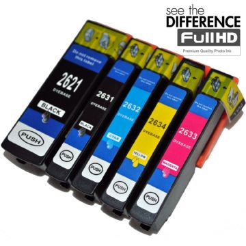Refurbished 5 Colour Epson 26XL High Capacity Ink Cartridge Multipack - (C13T26364010 - T2636)